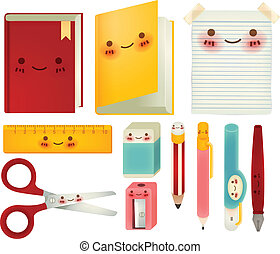 Set of back to school icons