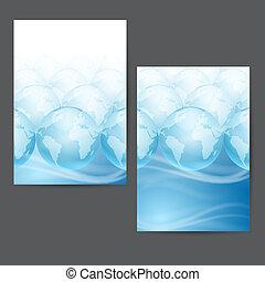 Set of backgrounds. Globes.