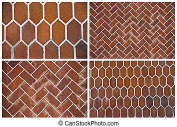 set of backgrounds of ceramic tiles