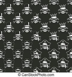 Set of backgrounds Seamless emblems