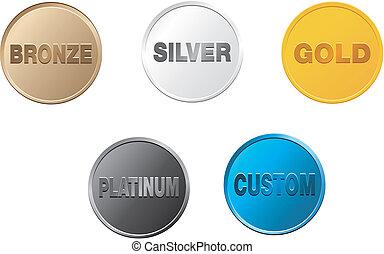 set of badge