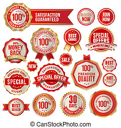 Set of badges and stickers - Set of vector badges and...