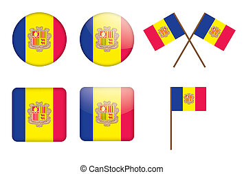 badges with flag of Andorra