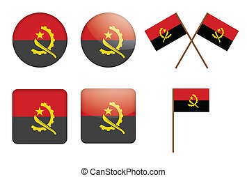 badges with flag of Angola