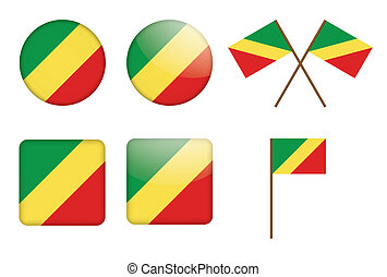 badges with flag of Congo
