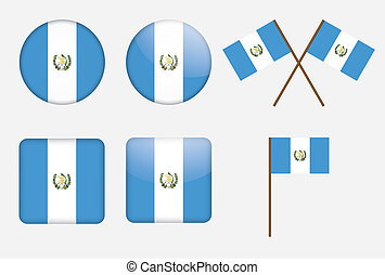 badges with flag of Guatemala