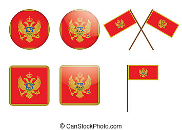 badges with flag of Montenegro