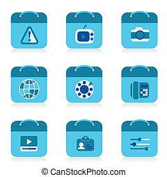 set of bag icon, vector