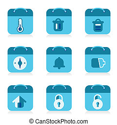set of bag icon, vector