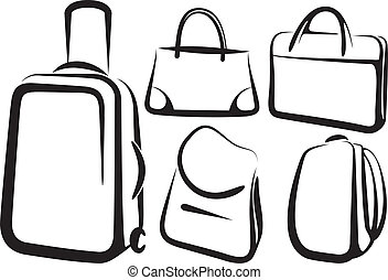 set of bag icons