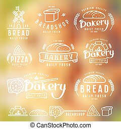 Set of bakery labels, badges, and design elements