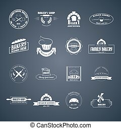 Set of bakery logos.