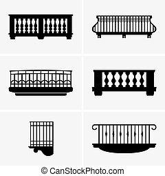 Set of Balconies