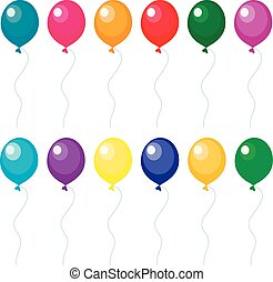 Set of balloons, vector illustration