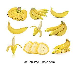 set of Banana isolated on white background