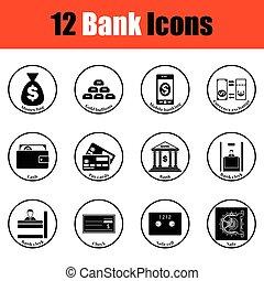 Set of bank icons