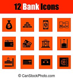 Set of bank icons