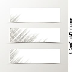 Set of banner grid design. Gray banner for header with with...