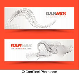 Set of banner templates.