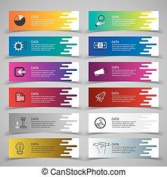 Set of banner templates. Modern abstract design.