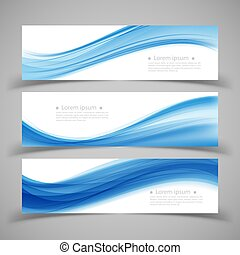 Set of banner templates Modern abstract Vector Illustration.