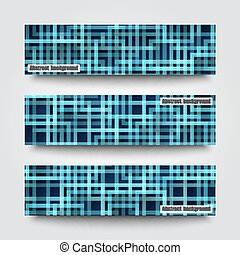Set of banner templates with abstract background. Eps10 Vector illustration
