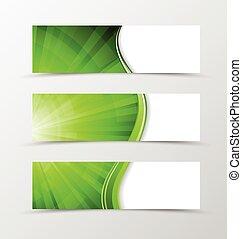 Set of banner wave design. Bright banner for header with...