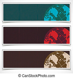 Set of Banners. Abstract Background. Eps10 Format.