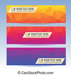Set of banners for your website, Triangle