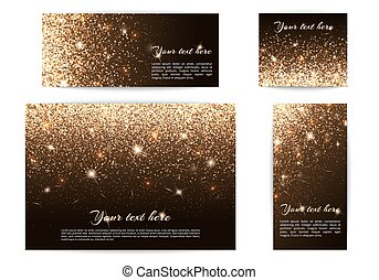 Set of banners of different sizes black background - Set of...