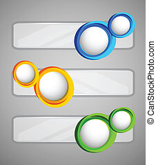 Set of banners with circles