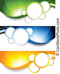 Set of banners with circles. Abstract illustration
