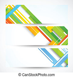 Set of banners with lines. Abstract colorful illustration