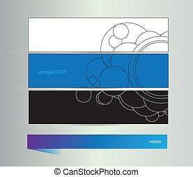 Set of banners with vector elements