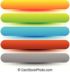 Set of bar, button, banner backgrounds. Glossy, shiny buttons