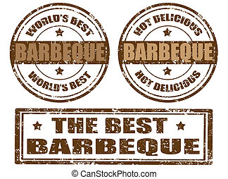 Set of barbeque stamps