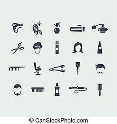 Set of barbershop icons