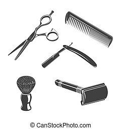 Set of barbershop things