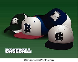 Set of baseball caps