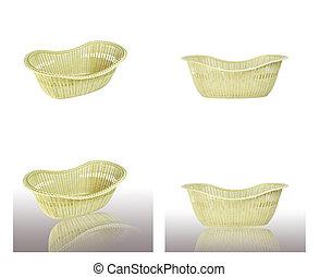 set of Basket on white background