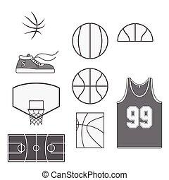 Set of Basketball vintage Design Elements