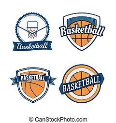Set of Basketball vintage Design Labels