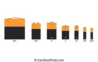 Set of battery icons. Vector illustration