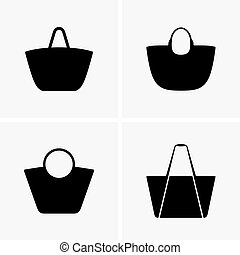 Set of beach bags
