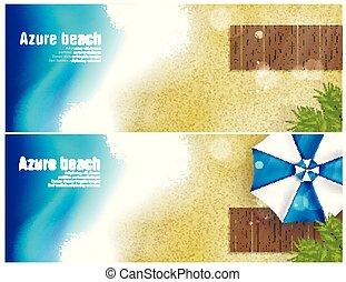 beach banner for facebook Poster vector Design