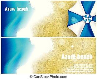 beach banner for Poster vector Design