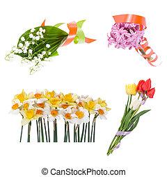 Set of beautiful bouquet