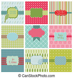 Set of Beautiful Cards - for birthday, wedding, ...