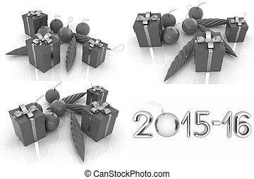 Set of  Beautiful Christmas gifts