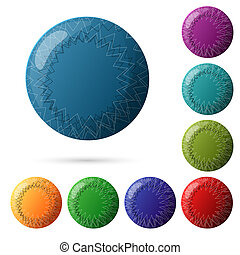 Set of beautiful multicolored buttons for your website design.